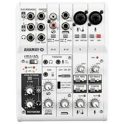 Yamaha AG06 Multipurpose 6-Channel Studio Live Mixer with US