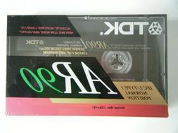 TDK AR 90 BLANK AUDIO CASSETTE TAPE NEW RARE 1991 YEAR MADE