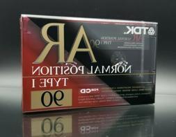 TDK AR 90 Blank Audio Cassette Tape Type I Normal Position M