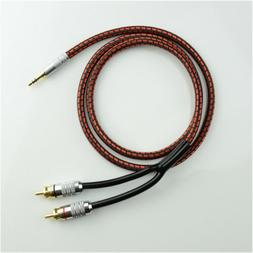Monster Audio Cable Stereo 3.5mm male to 2 RCA Gold Plated f