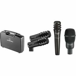 Audio-Technica PRO-DRUM4 Drum Mic Pack w/ Kick, Snare, Toms