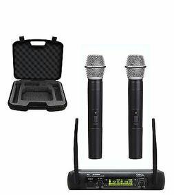 Audio2000's 6074U UHF 2 Channel Karaoke Wireless Microphone