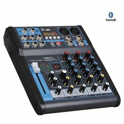 Audio2000'S AMX7321 4-Ch Audio Mixer w/USB Interface, Blueto