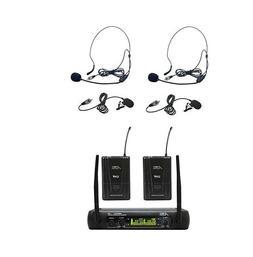 Audio2000'S AWM6074UMH UHF, DUAL WIRELESS LAVALIERE/HEADSET