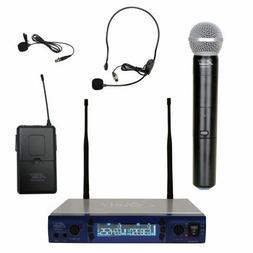 Audio2000's AWM6952ULX UHF Dual Channel Wireless Microphone