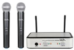 Audio2000'S S6035 UHF Dual Handheld Wireless Microphone Syst