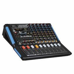 Audio2000s AMX7333 8-Ch.Audio Mixer Sound Board with USB & B