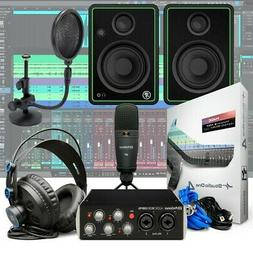 PreSonus Audiobox 96 Black Podcasting Recording Bundle + Mon
