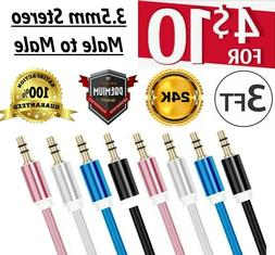 AUX AUXILIARY 3.5mm Cable Male to Male Car Audio Cord iPhone