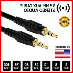 AUX Headphone 3.5mm Cable Male to Male Car Stereo Audio Cord