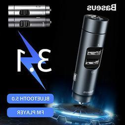 Baseus Wireless FM Transmitter Bluetooth 5.0 Audio MP3 Playe