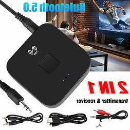Bluetooth 5.0 Dongle Audio Receiver 3.5mm Jack AUX NFC Wirel