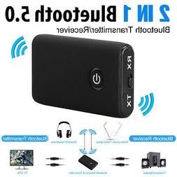 Bluetooth 5.0 Transmitter and Receiver 2-in-1 Wireless Audio