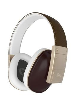 Polk Audio Buckle Headphones - Brown/Gold - with 3 button co