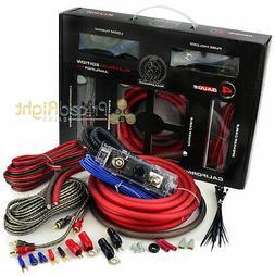 Bullz Car Audio Red 4 Gauge Pro AMP / Amplifier Power Wiring