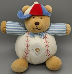 Carters Baby's First Baseball Bear Lovey Security Sound Plus