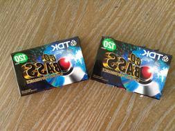 TDK CD Bass 120 audio cassette new sealed lot of 2