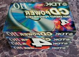 TDK CD POWER 110 Type II CrO2 High Bias New Blank Audio Cass