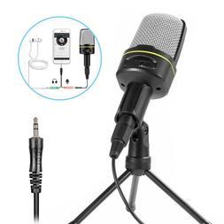Condenser Microphone Kit Stand Tripod Audio Recording  Compu