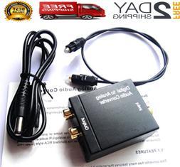 Convertidor De Audio Digital A Analogo Para HDTV Tv Con Cabl