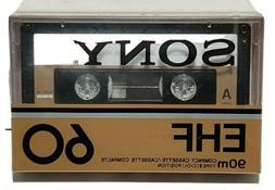 Sony EHF 60 High Bias Type II Audio Cassette Tape - NOS NEW