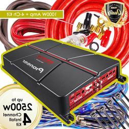 Pioneer GM-A6704 1000 Watt 4-Channel Class AB Car Audio Ampl