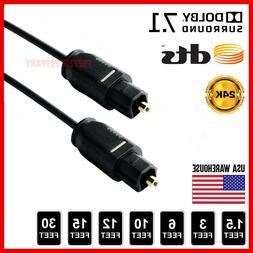 Gold TOSLink Fiber Optical Optic Digital Audio Cable SPDIF S