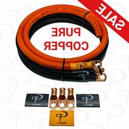 GP Car Audio Big 3 UPGRADE wiring Kit OFC COPPER TRUE 1/0 AW