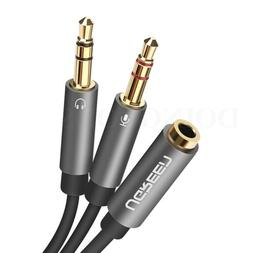 Ugreen Headphone y Splitter Cable Dual And Mic Audio Jack 3.