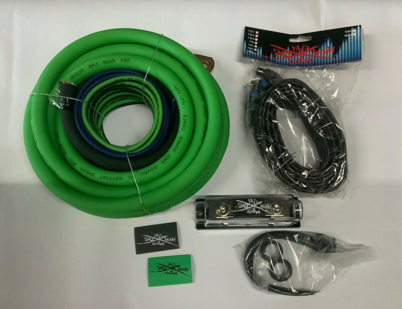 1 0 gauge cca amp kit green