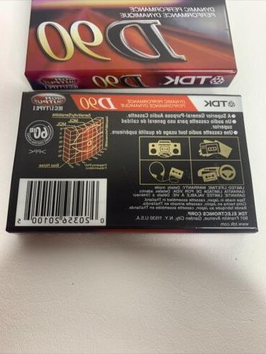 10 - TDK D-90 JVC 60 Audio IEC1 Sealed