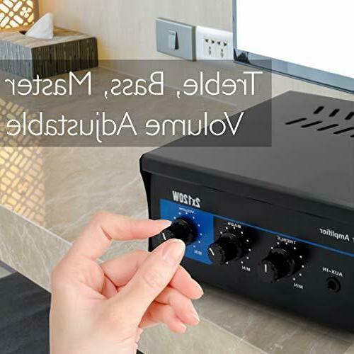 2x120 Speaker Power Amplifier Portable Channel