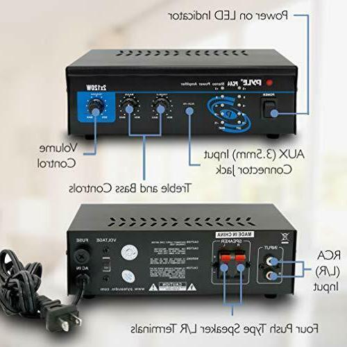 2x120 Watt Home Speaker Portable Dual Channel