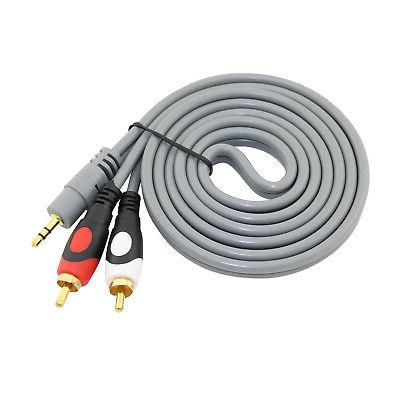 3 5mm to 2 rca audio adapter