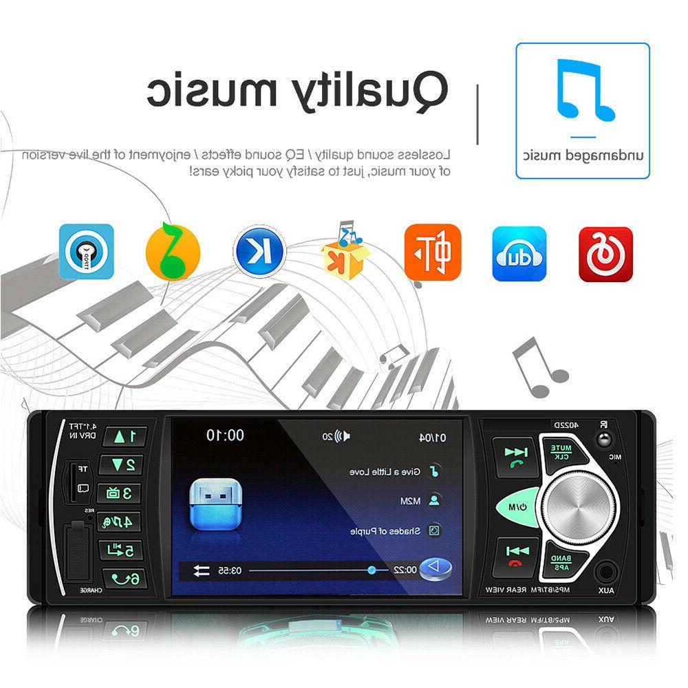 4.1 Radio Stereo 1DIN Bluetooth AUX Audio with Camera