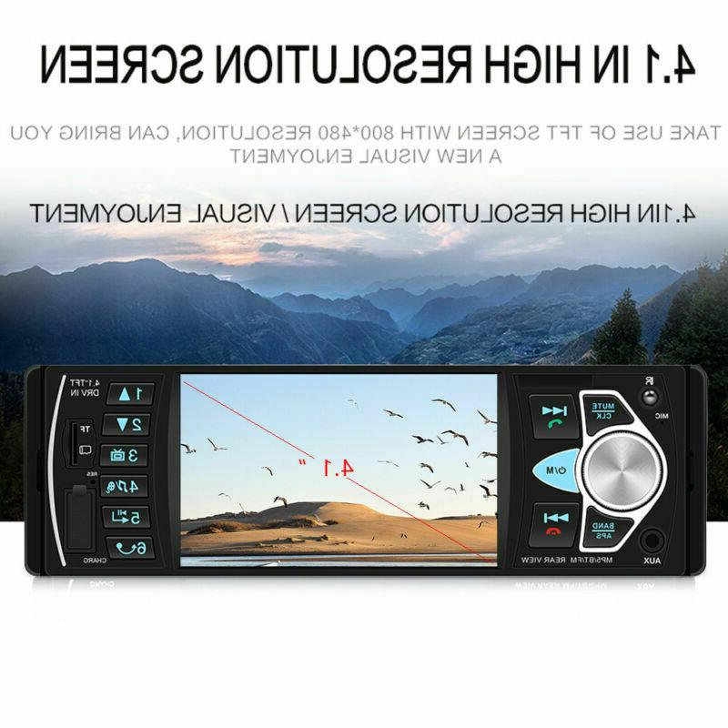4.1 Car Stereo 1DIN USB AUX Player with Camera