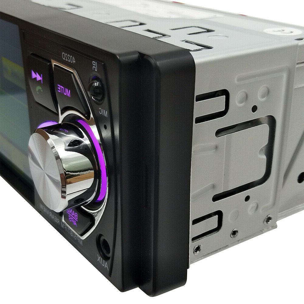 4.1 Car 1DIN FM AUX Audio with Camera