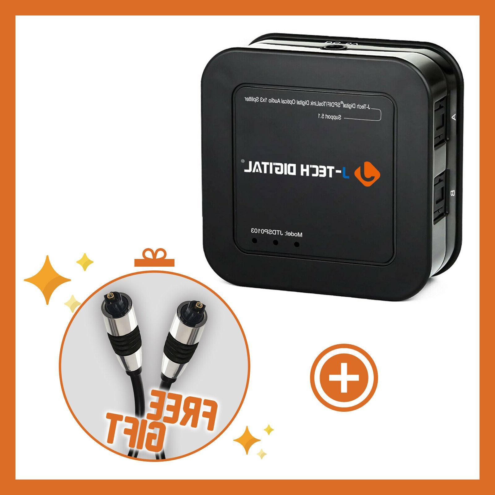 J-Tech Digital Premium Quality SPDIF TOSLINK Digital Optical