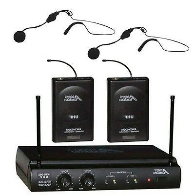 audio2000 s awm 6032uh uhf dual channel