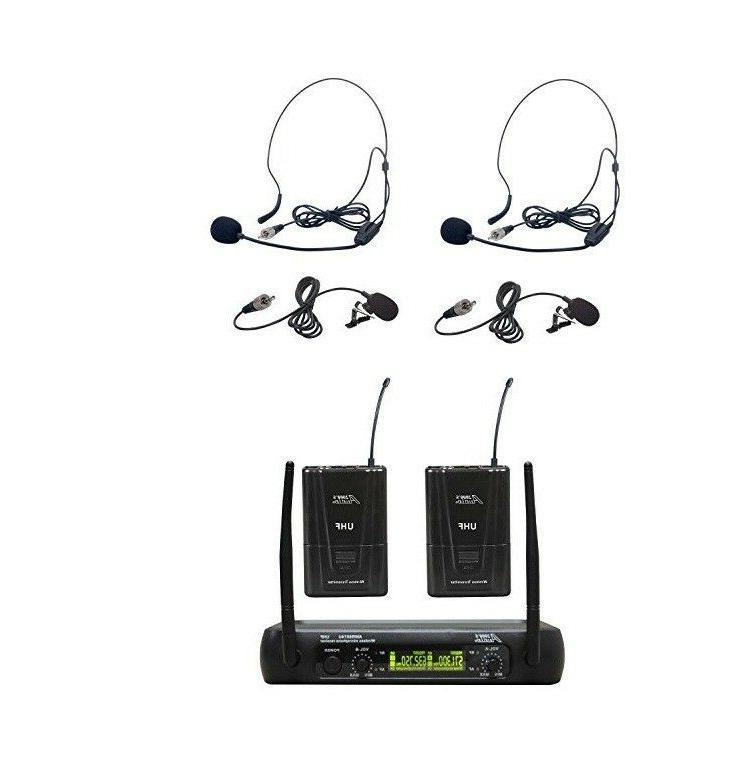 audio2000 s awm6074umh uhf dual wireless lavaliere