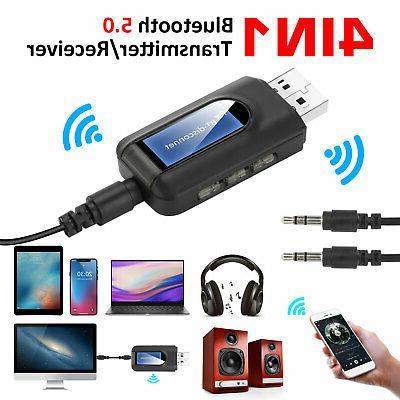 Bluetooth 5.0 Transmitter Receiver 4 IN 1 Wireless Audio 3.5