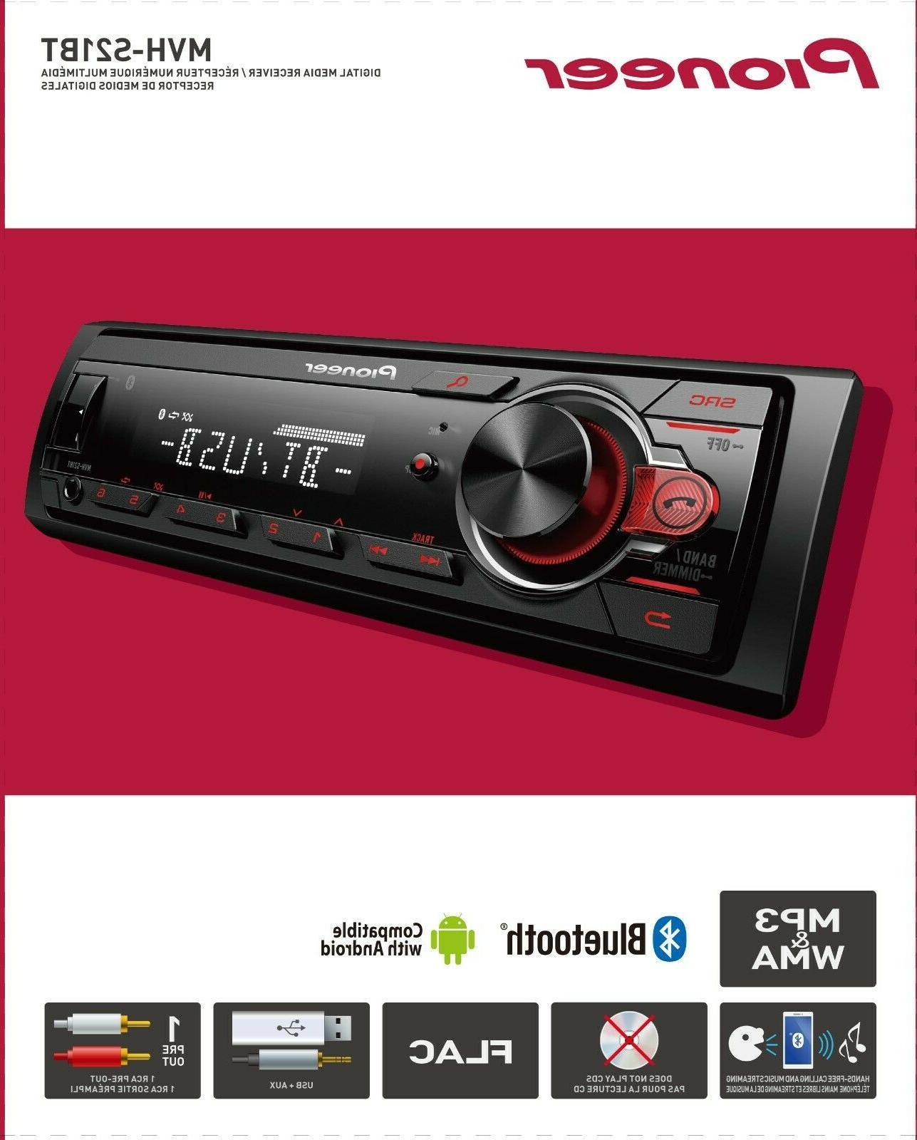 Pioneer Bluetooth Car Stereo Receiver AM/FM Radio Audio Syst