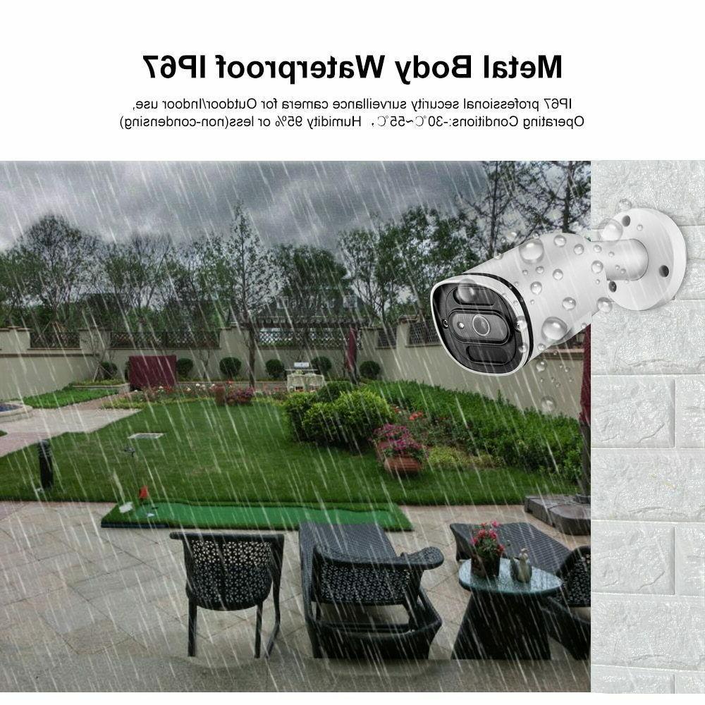 H.265+ 4K POE IP Camera Waterproof Audio CCTV ONVIF