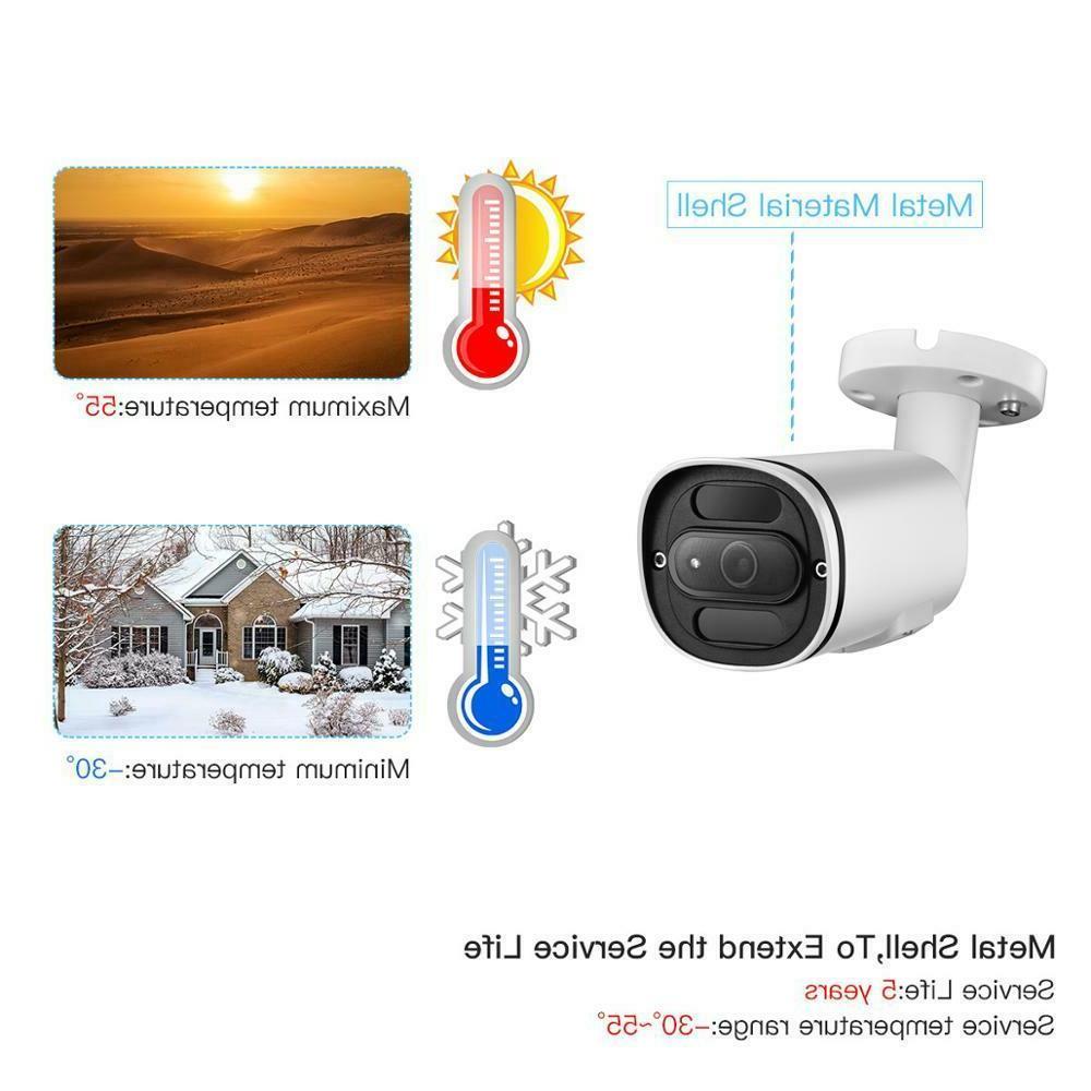H.265+ 4K Audio Security CCTV ONVIF