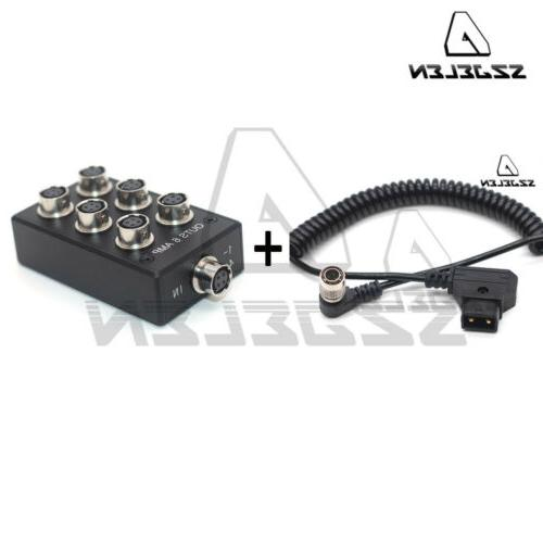 Hirose 4 power ous AMP for Sound Devices F8 Adapter Splitter