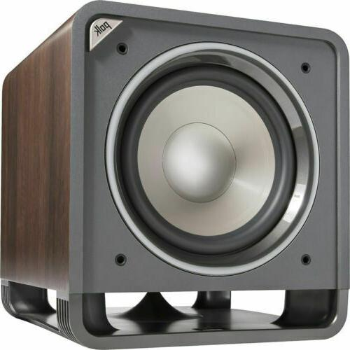 hts 12 brown powered subwoofer