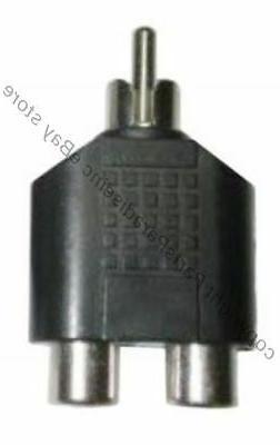 no cable RCA Y/T Splitter 1Male~2/Dual Female Audio/Video co