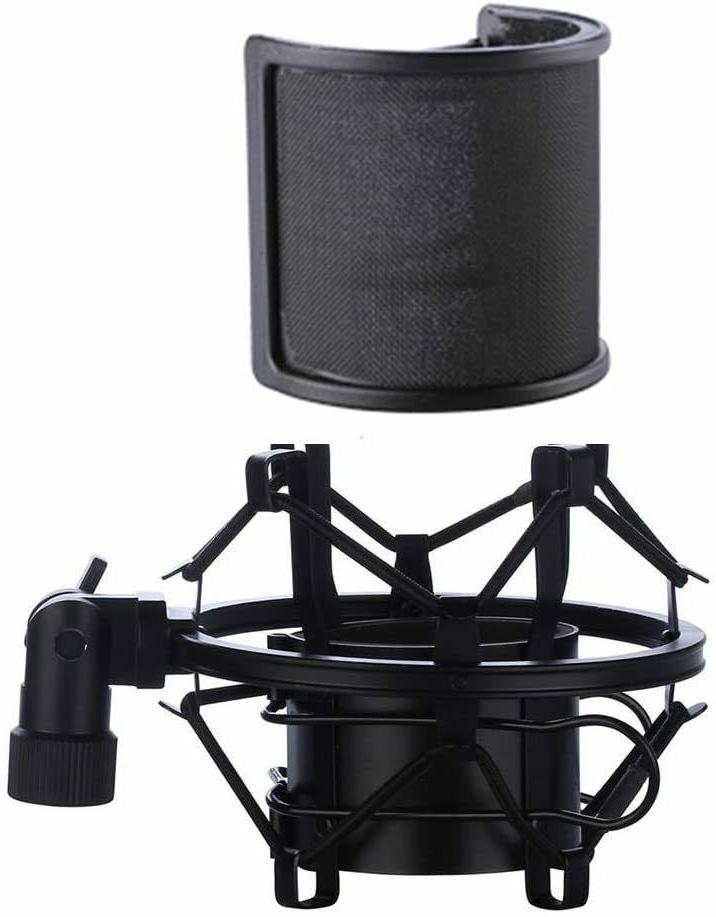 Pop Filter With Shock Mount For ATR2100 AT2020 AT2035 Audio