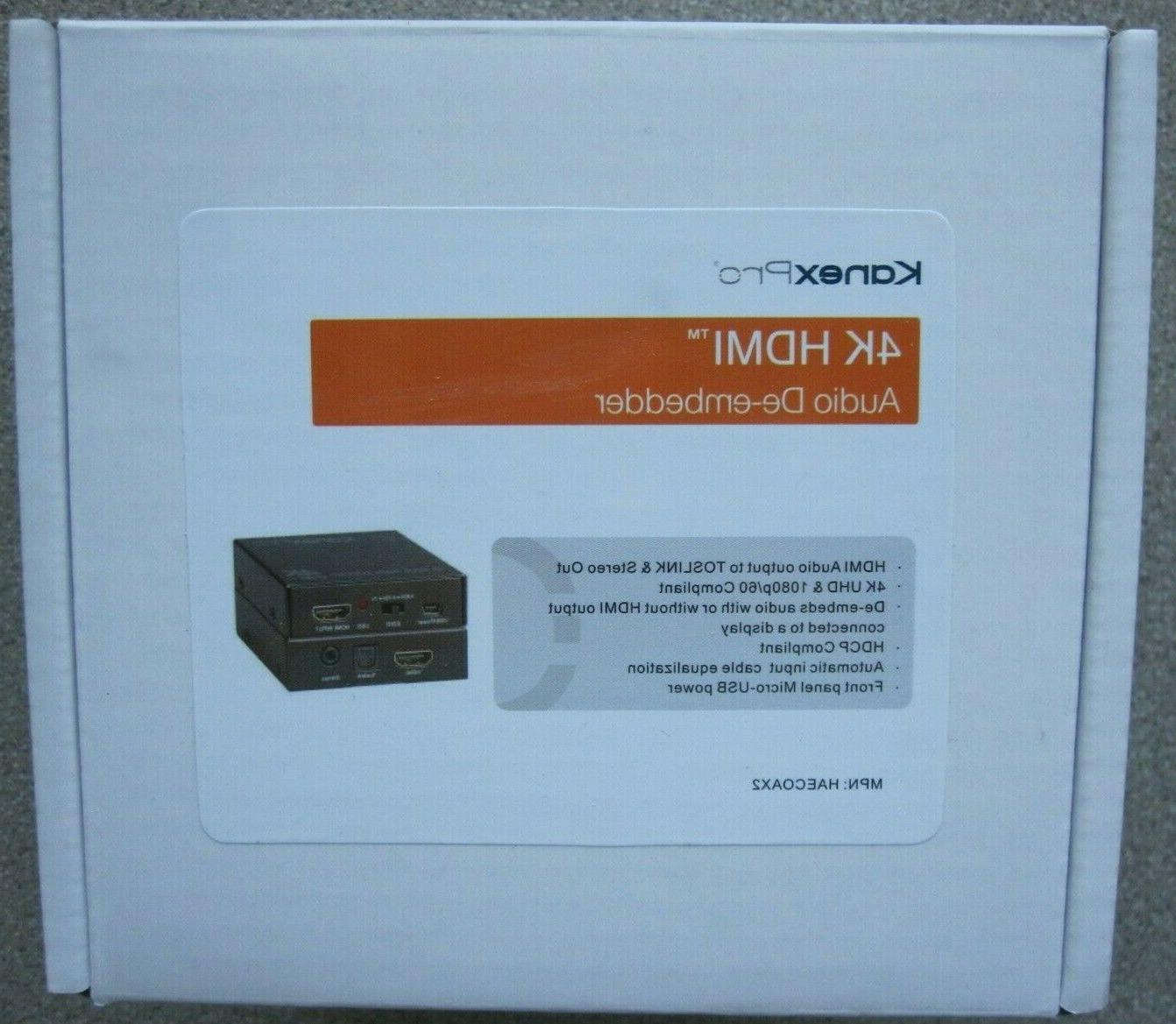 pro haecoax2 4k hdmi audio de embedder