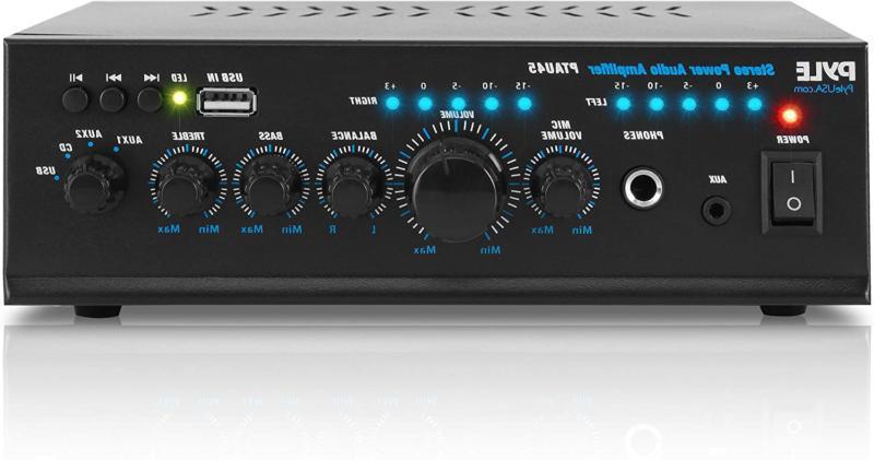 pyle 2x120 watt home audio power amplifier